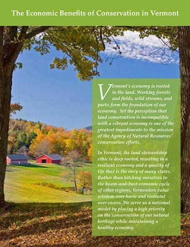 Jon Erickson: Vermont Genuine Progress Indicator Refined to Assess Benefits of Land Conservation