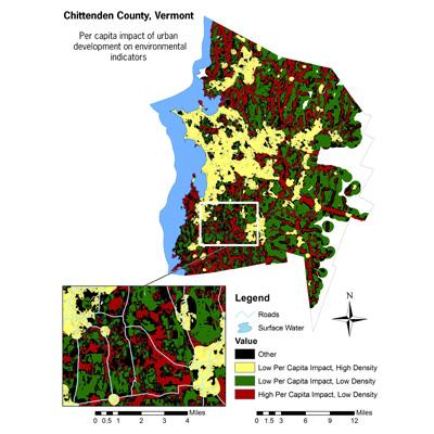 Austin Troy: Mapping Sprawl in Northern Vermont to Help Minimize Its Ecological Impacts